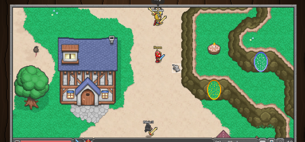 A screenshot of the BrowserQuest game.